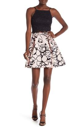 Jump 2-Piece Lace MIkado Party Dress