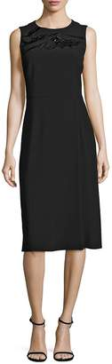 HUGO BOSS Women's Deffy Beaded Crepe Dress