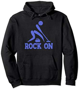 Rock on Curling Winter Sports Pullover Hoodie
