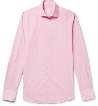 Incotex Slim-Fit Striped Cotton-Blend Shirt