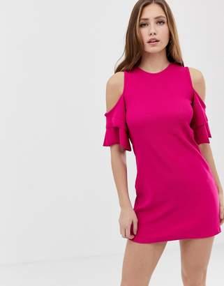Bershka Cold Shoulder Shift Dress
