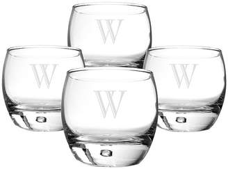 Cathy's Concepts CATHYS CONCEPTS Set of 4 Personalized Heavy Base Whiskey Glasses