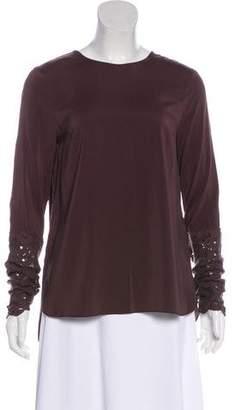Brunello Cucinelli Long Sleeve Silk Top