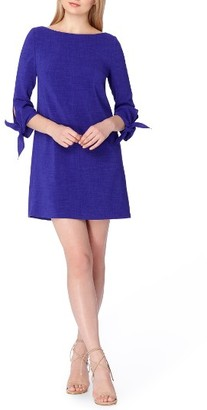 Women's Tahari Tie Sleeve A-Line Dress $118 thestylecure.com
