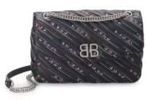 Balenciaga BB Logo Quilted Leather Crossbody Bag