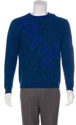 Kenzo Rib Knit Logo Wool Sweater
