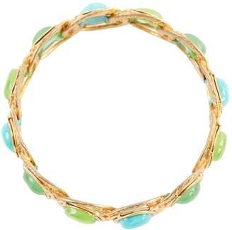 Chanel Vintage Green Metal Bracelets