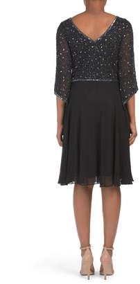 Bead Chiffon Cocktail Dress