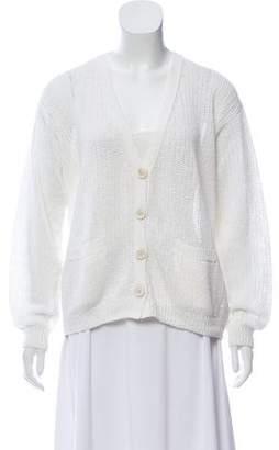 Iris von Arnim Linen Open Knit Cardigan