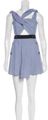 Self-Portrait Spring 2014 Striped Mini Dress