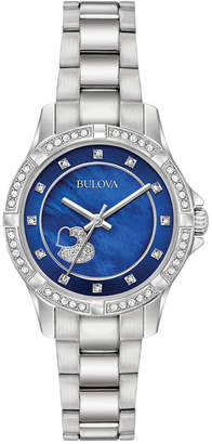 Bulova Women's Stainless Steel Bracelet Watch 30mm 96L238 $299 thestylecure.com