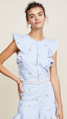 J.o.a. Embroidered Blouse