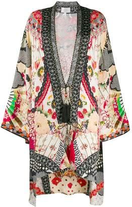 Camilla printed kimono jacket