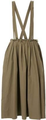 Yohji Yamamoto Pre-Owned suspenders gathered skirt