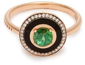 Selim Mouzannar - Mina Diamond, Tsavorite & 18kt Rose Gold Ring - Womens - Green