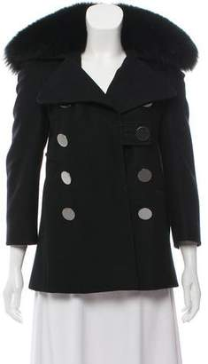 Altuzarra Fur-Trimmed Virgin Wool Coat