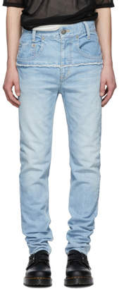 Christian Dada Indigo Connected Slim Jeans