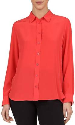 Gerard Darel Ethan Crossover-Back Button-Down Silk Shirt