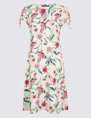 Marks and Spencer Floral Print Short Sleeve Tea Dress