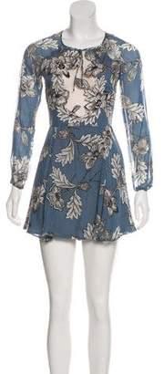 For Love & Lemons Silk & Tulle Dress
