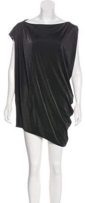 Diane von Furstenberg Metallic Petalina Dress