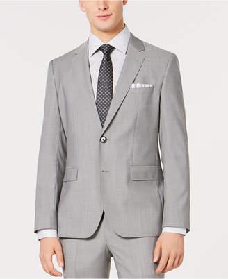 b77f01ff8ac HUGO BOSS HUGO Men s Slim-Fit Light Gray Tonal Grid Suit Jacket
