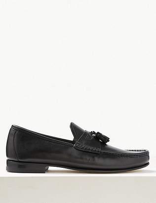 Marks and Spencer Leather Slip-on Tassel Loafers