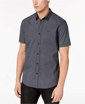Armani Exchange Men's Stretch Star-Pattern Shirt, Created for Macy's