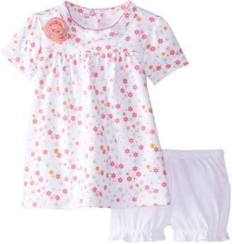 Kushies Baby Pretty Petals Dress and Bloomer Set