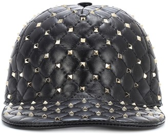 6960149a929 Valentino Rockstud Spike leather cap