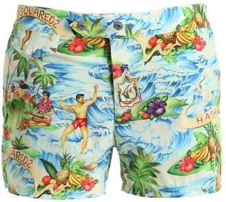 DSQUARED2 Underwear Hawaiian Printed Nylon Swim Shorts