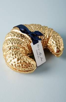 Anthropologie Gilded Croissant Trinket Box