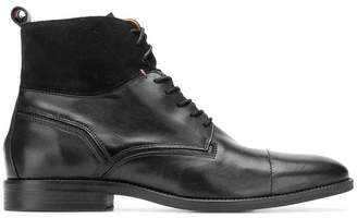 Tommy Hilfiger panelled lace up boots