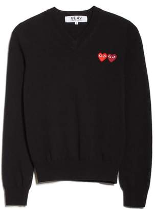 Comme des Garcons Double Heart Wool Sweater