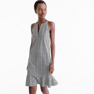 Flutter-hem dress in plaid $88 thestylecure.com