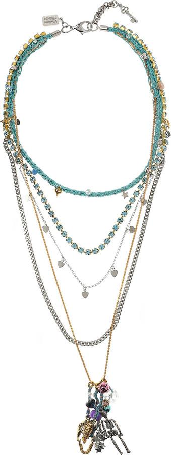 Venessa Arizaga Life's A Beach 18-karat gold-plated charm necklace