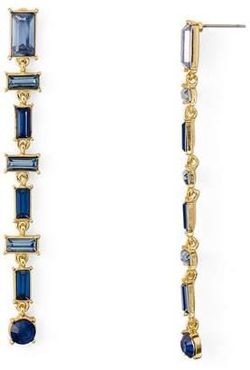 Aqua Baguette Linear Drop Earrings - 100% Exclusive