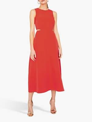 f3e5a1a3 Warehouse Open Back Midi Dress, Coral