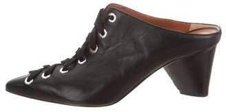Derek Lam Leather Pointed-Toe Mules