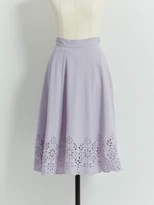 Noela (ノエラ) - ノエラ カットワーク刺繍フレアスカート