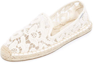 Soludos Tulip Lace Smoking Slipper Espadrilles $75 thestylecure.com