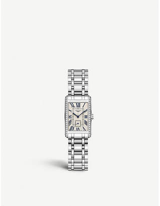 Longines L5.255.0.71.6 Dolcevita diamond-studded stainless steel watch