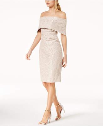 Vince Camuto Lace Off-The-Shoulder Sheath Dress
