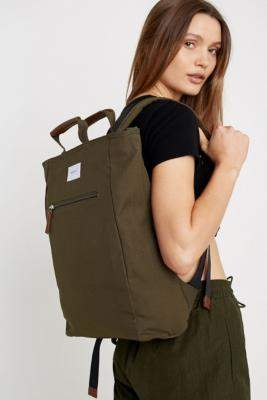 SANDQVIST Tony Khaki Totepack Backpack - green at Urban Outfitters