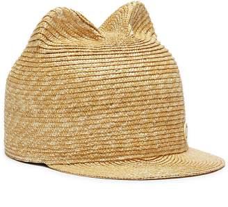 Maison Michel 'Jamie' cat ear wheat straw cap