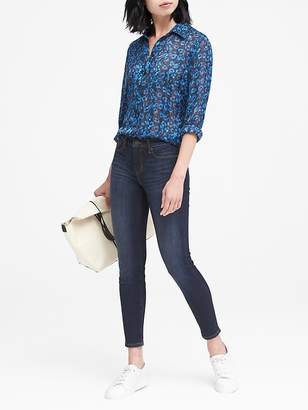 Banana Republic Petite Skinny Dark Wash Jean
