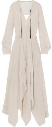 Roland Mouret Austonley Open-back Silk-crepe Midi Dress - Off-white