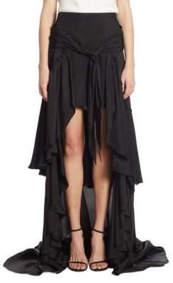 Cinq à Sept Amora Ruffled Hi-Lo Maxi Skirt