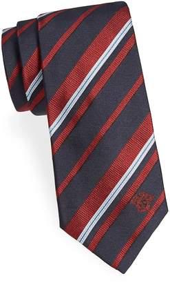 Versace Men's Variegated Stripe Silk Tie
