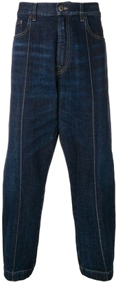 Prada cropped baggy jeans